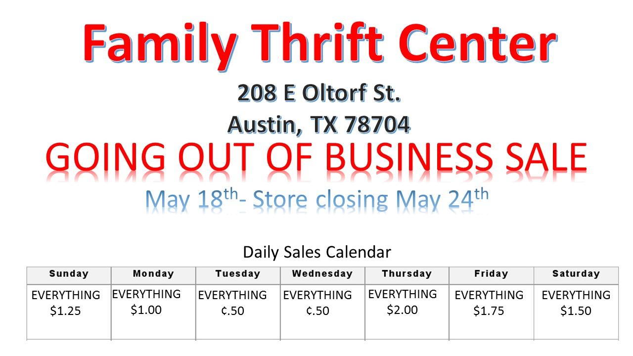 FTC Closing in Austin TX!!!