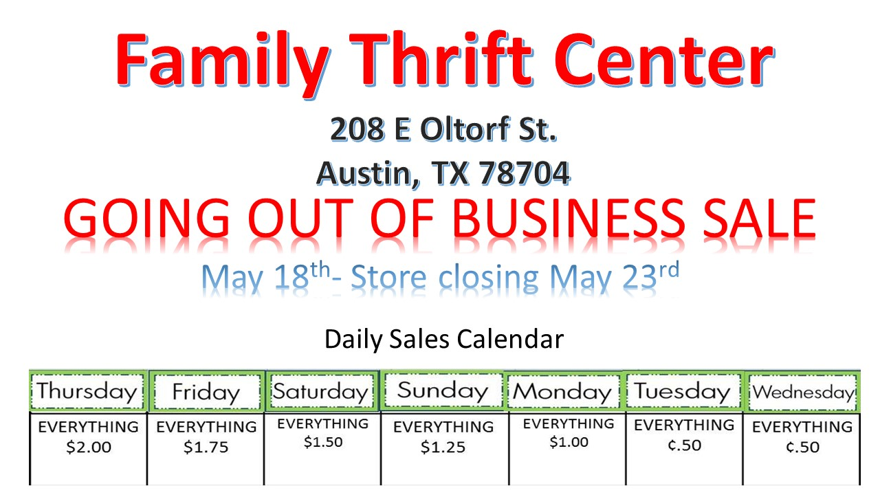 Store Closing in Austin, Tx!! Stop in for huge sales!