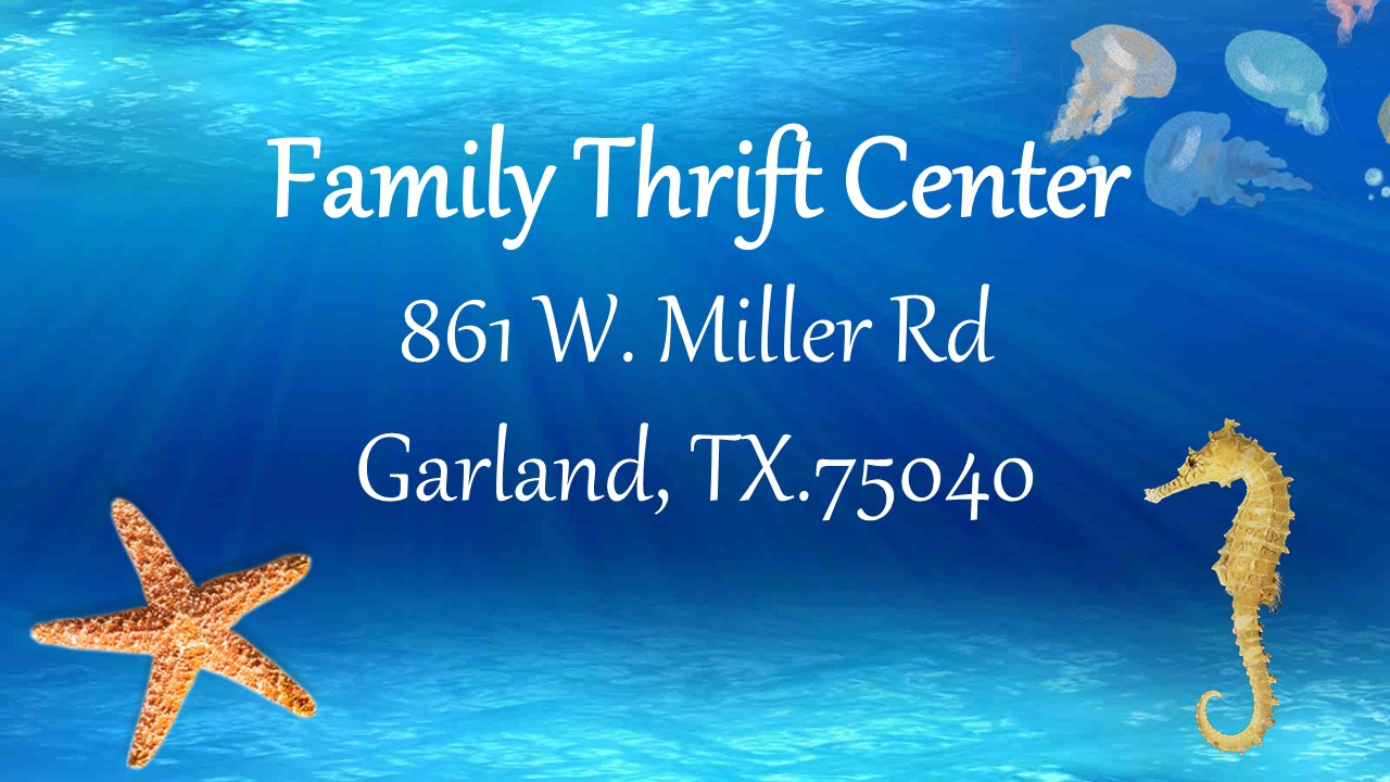 Ride the waves into Family Thrift Center this Summer! Prices are HOTT!!