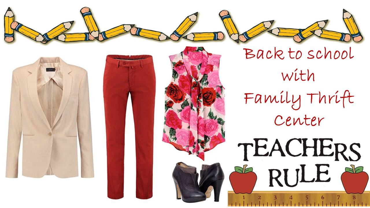 Head back to the classroom with Family Thrift Center!!