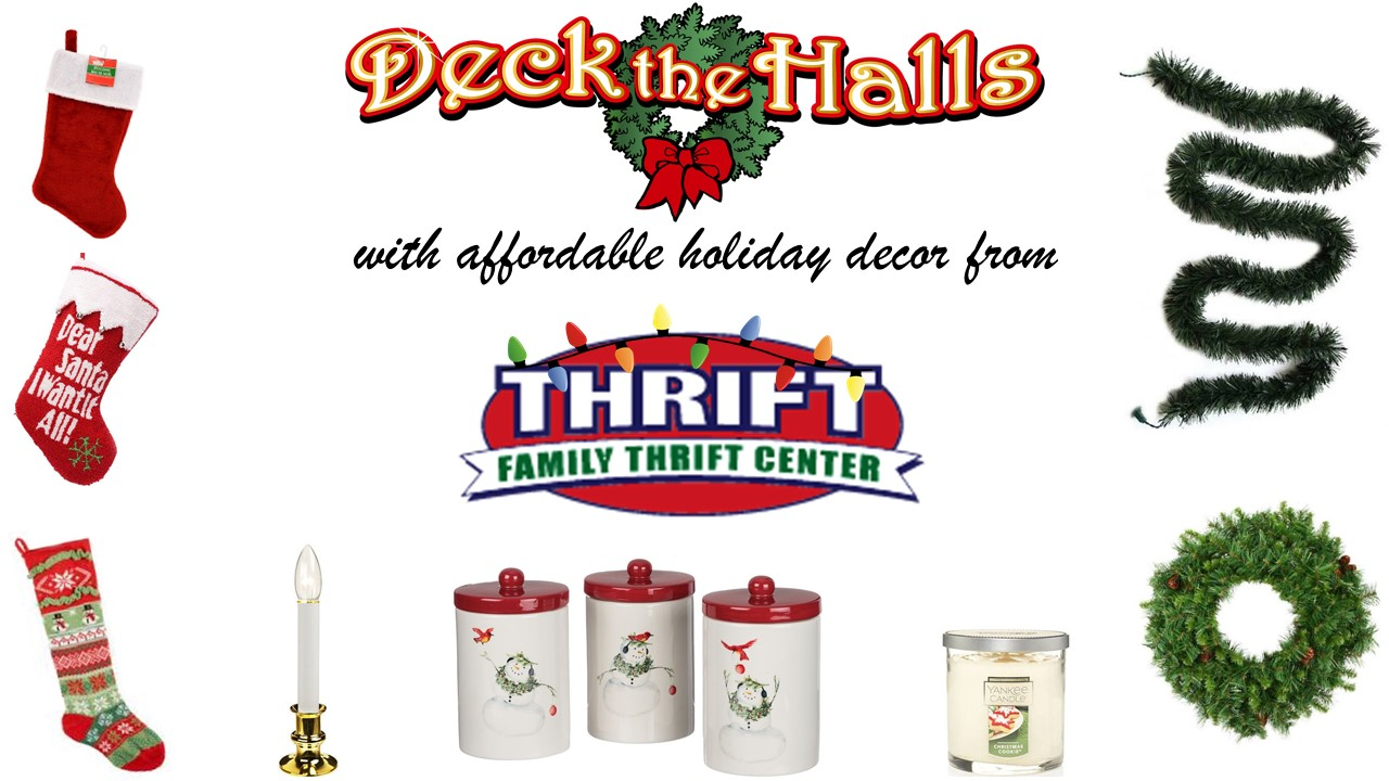 Find fun and affordable holiday decor at Family Thrift Center