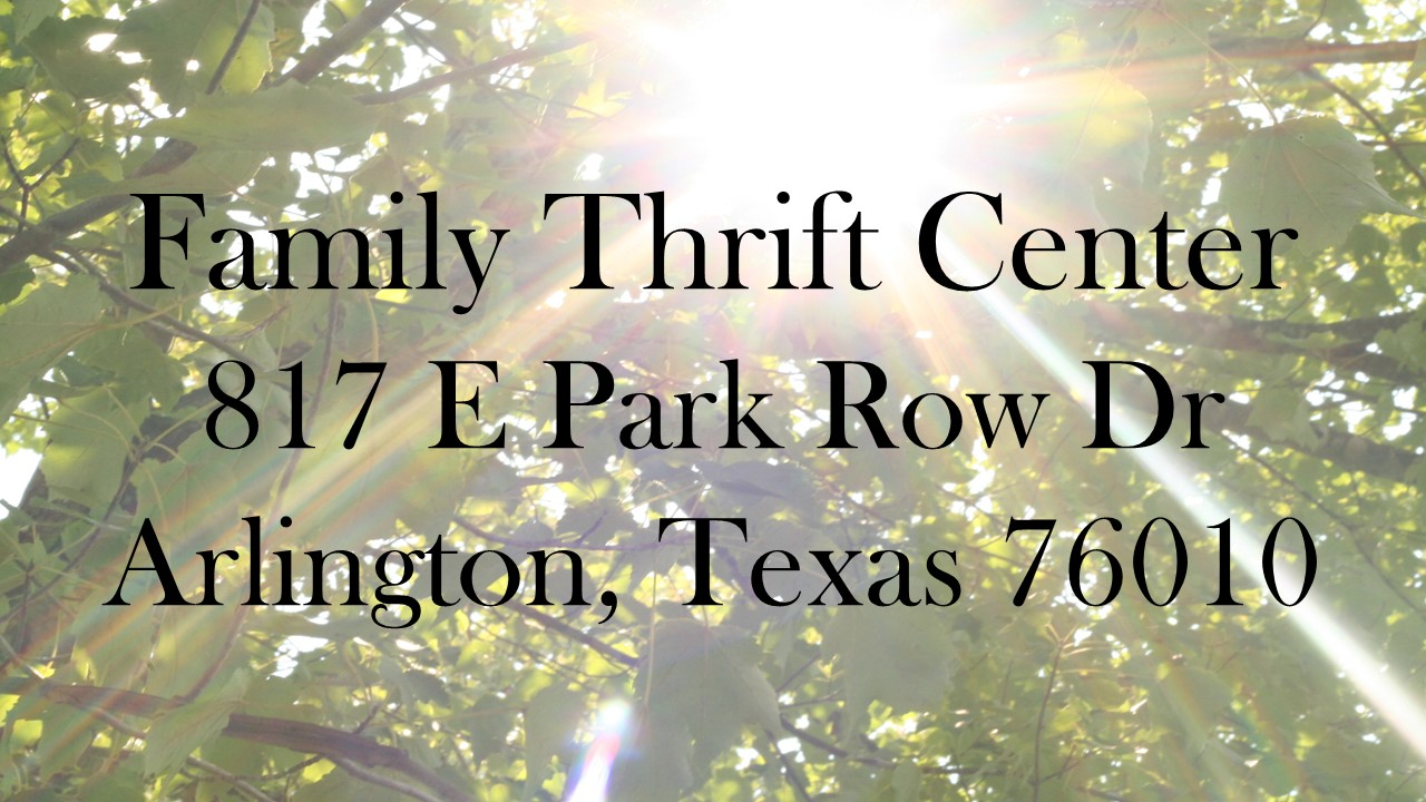 Spring is just around the corner. Stop into your local Family Thrift Center for Spring wear for the entire family!